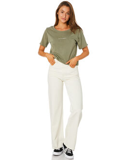 ARMY GREEN WOMENS CLOTHING THRILLS TEES - WTA20-100FAGRN