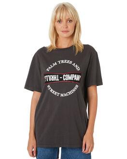 MERCH BLACK WOMENS CLOTHING THRILLS TEES - WTH9-111MBMBLK
