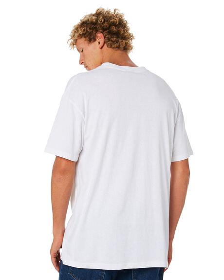 WHITE MENS CLOTHING STUSSY TEES - ST006000WHT