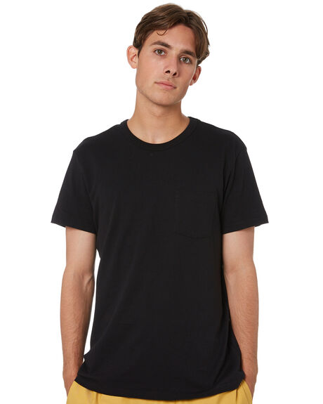 BLACK MENS CLOTHING GLOBE TEES - GB02001000BLK