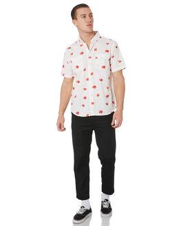 WHITE MENS CLOTHING HUF SHIRTS - BU00052-WHT