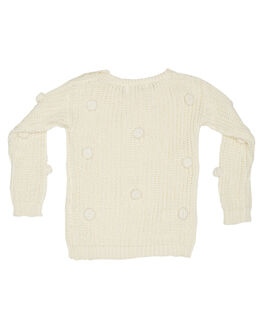 CREAM KIDS GIRLS CHILDREN OF THE TRIBE JUMPERS + JACKETS - GRJP0343CRM