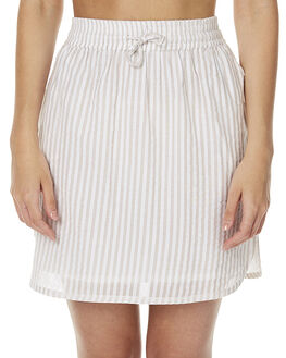 WHITE ECRU WOMENS CLOTHING NATIVE YOUTH SKIRTS - NYWSK7WHT