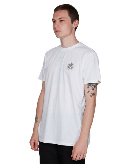 WHITE MENS CLOTHING ELEMENT TEES - EL-107009-WHT