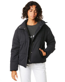 BLACK WOMENS CLOTHING COOLS CLUB JACKETS - 508-CW2BLK