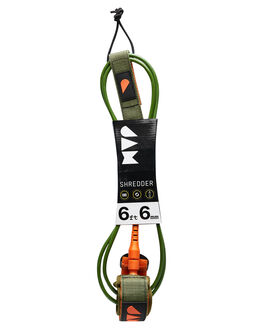 GREEN ORANGE BOARDSPORTS SURF JAM TRACTION LEASHES - LH6M6FGRN