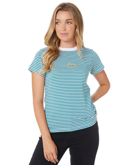 TEAL WOMENS CLOTHING STUSSY TEES - ST105109TEAL