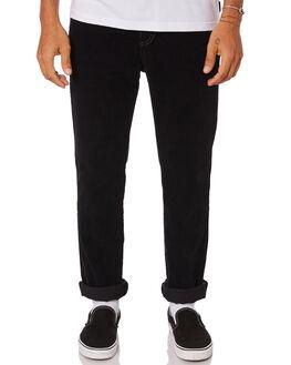 BLACK MENS CLOTHING RUSTY PANTS - PAM0942BLK