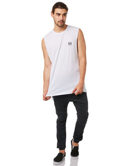 WHITE MENS CLOTHING ZANEROBE SINGLETS - 116-METWHT
