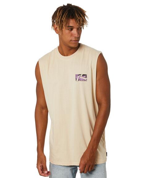 OATMEAL MENS CLOTHING RUSTY SINGLETS - MSM0288OAT