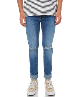 LT STONE DESTROYED MENS CLOTHING DR DENIM JEANS - 1330125-G45