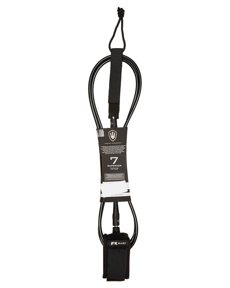 BLACK WHITE BOARDSPORTS SURF FK SURF LEASHES - 1282BLKWH
