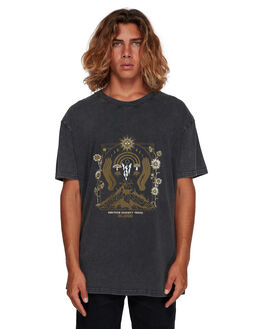 BLACK MENS CLOTHING BILLABONG TEES - BB-9591024-BLK