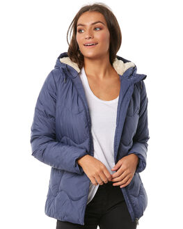 CROWN BLUE WOMENS CLOTHING ROXY JACKETS - ERJJK03247BQY0