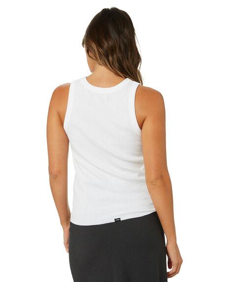WHITE WOMENS CLOTHING THRILLS SINGLETS - WTA21-154AWHT