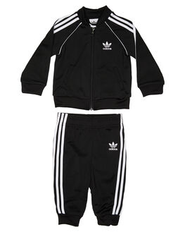 BLACK WHITE KIDS BOYS ADIDAS JUMPERS + JACKETS - DV2849BLKWH