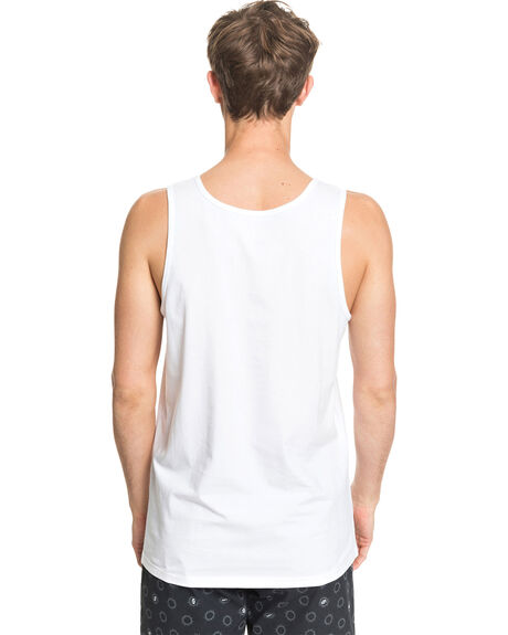 WHITE MENS CLOTHING QUIKSILVER SINGLETS - EQYZT05781-WBB0