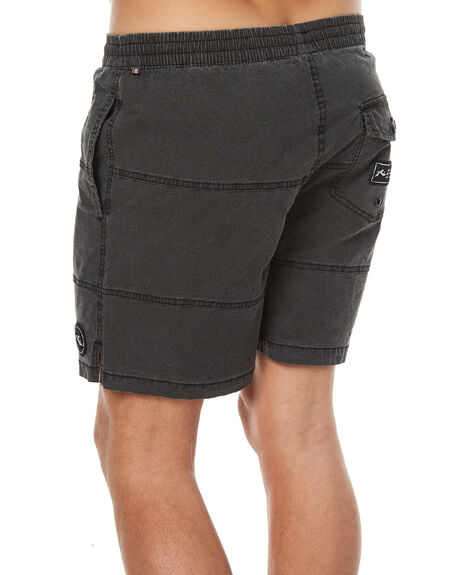 BLACK MENS CLOTHING RUSTY BOARDSHORTS - BSM1176BLK