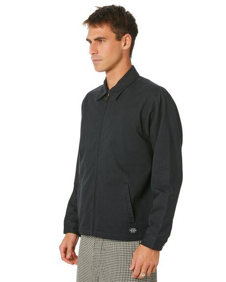 BLACK MENS CLOTHING THRILLS JACKETS - TH20-203BBLK