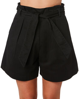 BLACK WOMENS CLOTHING COOLS CLUB SHORTS - 603-CW3BLK