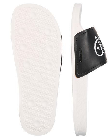 WHITE COMBO MENS FOOTWEAR VOLCOM SLIDES - V08118S9WTC
