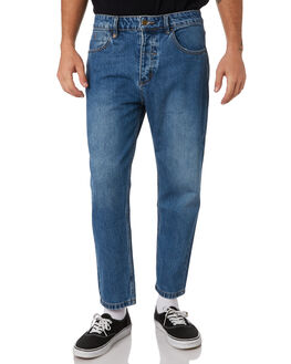 RINSED BLUES MENS CLOTHING THRILLS JEANS - TDP-414RBRBLU