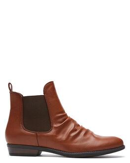 TAN WOMENS FOOTWEAR THERAPY BOOTS - 10593TAN