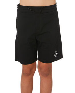 BLACK KIDS BOYS VOLCOM SHORTS - C1031802BLK