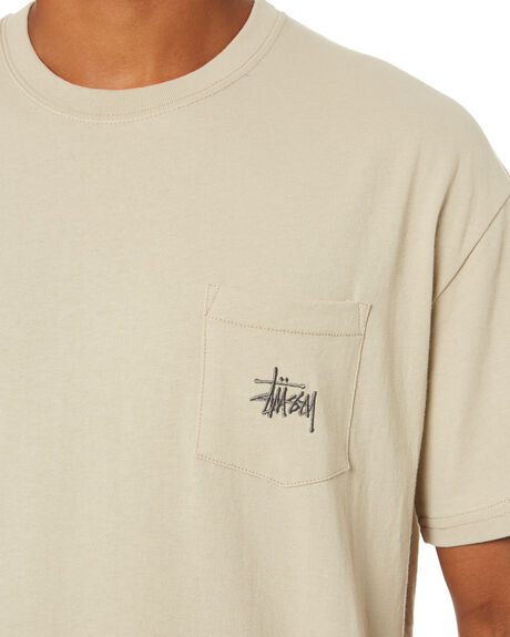 CEMENT MENS CLOTHING STUSSY TEES - ST007000CMNT