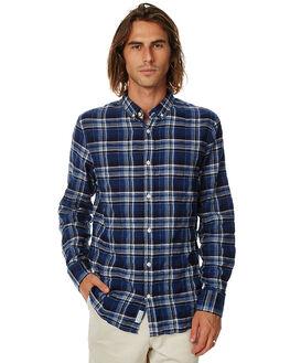 BLUE BLACK MENS CLOTHING ACADEMY BRAND SHIRTS - 17W805BBLK
