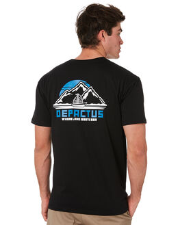 BLACK MENS CLOTHING DEPACTUS TEES - D5194003BLACK