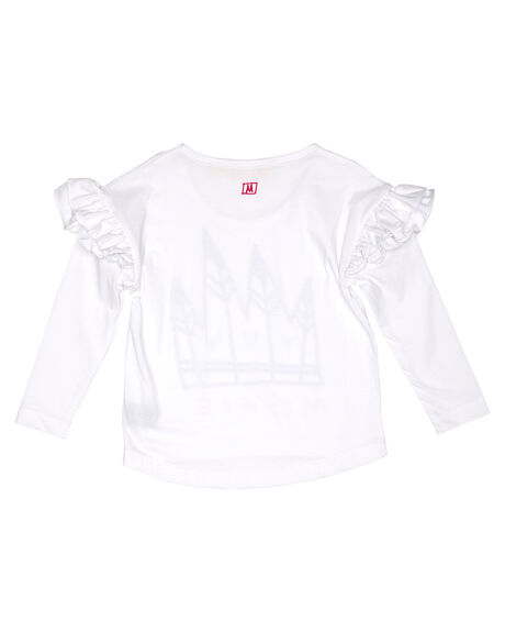 WHITE KIDS GIRLS MUNSTER KIDS TOPS - MM201TL03KWHITE