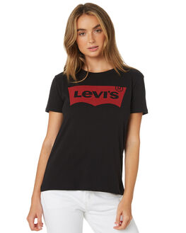 MINERAL BLACK WOMENS CLOTHING LEVI'S TEES - 17369-0201BLK
