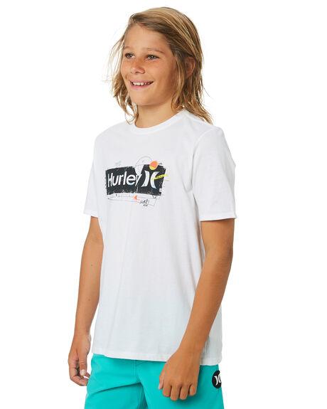WHITE KIDS BOYS HURLEY TOPS - CD0625100
