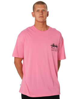 MID PINK MENS CLOTHING STUSSY TEES - ST096000MDPNK