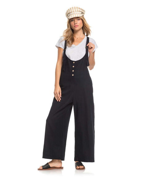ANTHRACITE WOMENS CLOTHING ROXY PLAYSUITS + OVERALLS - ERJWD03465-KVJ0