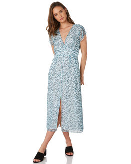 HAPPY GREENS WOMENS CLOTHING THE EAST ORDER DRESSES - EO190808DGRN