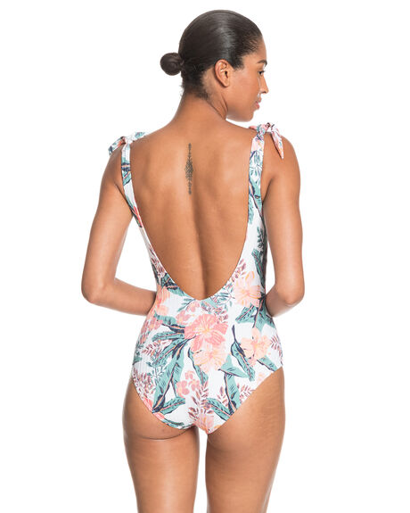 BRIGHT WHITE MAHE S WOMENS SWIMWEAR ROXY ONE PIECES - ERJX103270-WBB9