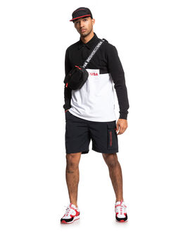 BLACK MENS CLOTHING DC SHOES SHORTS - EDYWS03133-KVJ0