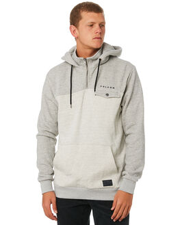 HEATHER GREY MENS CLOTHING VOLCOM JUMPERS - A4111910HGR
