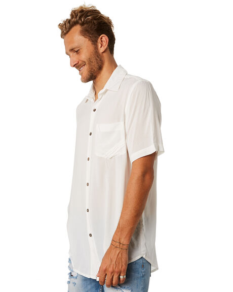 WHITE MENS CLOTHING THE PEOPLE VS SHIRTS - SSSTEVIE-WHT