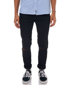 PCW CUT BLACK MENS CLOTHING CHEAP MONDAY JEANS - 0498771CUT