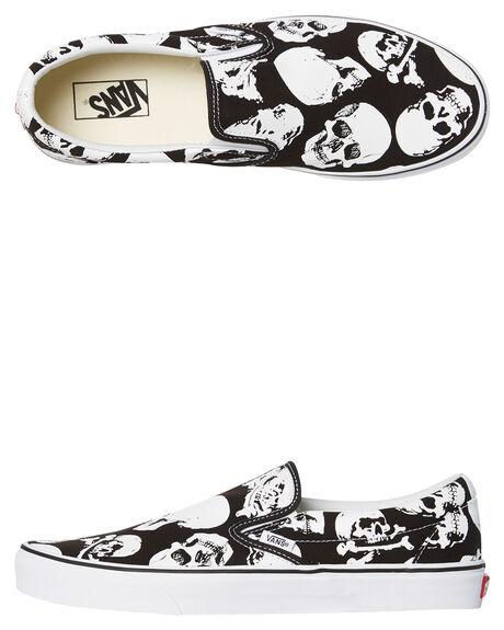 e7a2733ce45 Vans Mens Classic Slip On Skulls Shoe - Black White