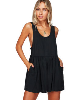 OFF BLACK WOMENS CLOTHING BILLABONG PLAYSUITS + OVERALLS - BB-6592536-OFB