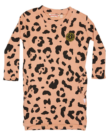 DESERT SAND KIDS TODDLER GIRLS MUNSTER KIDS DRESSES - MM172DR17DSRT