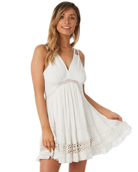 WHITE WOMENS CLOTHING TIGERLILY DRESSES - T382432WHT