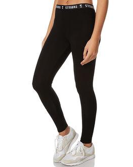 BLACK WOMENS CLOTHING THRILLS PANTS - WTA7-301BBLK