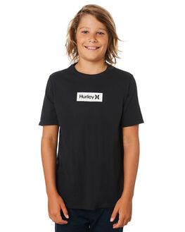 BLACK WHITE KIDS BOYS HURLEY TOPS - BQ1476011