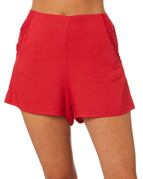 CHERRY WOMENS CLOTHING ALL ABOUT EVE SHORTS - 6424010CHRY