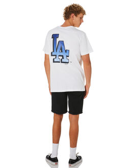 DODGERS WHITE MENS CLOTHING MAJESTIC TEES - MLD7195WBWHT